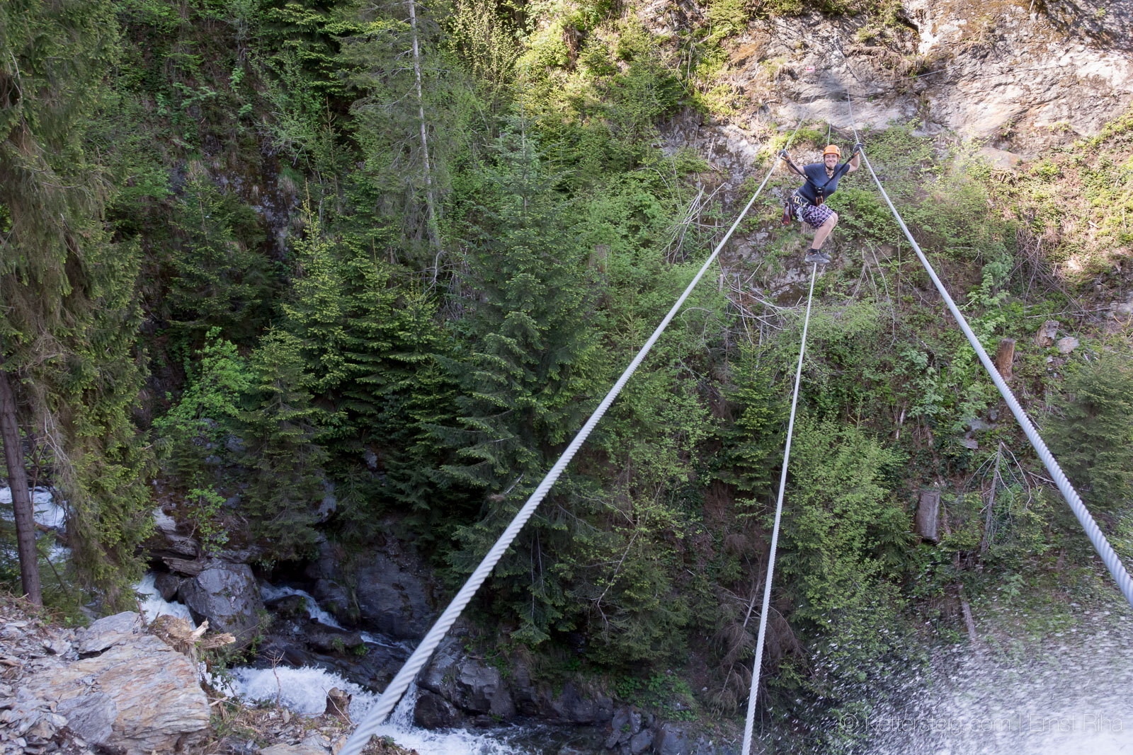 Klettersteig Talbach : Mai talbach klettersteig zillertal